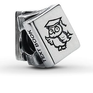 Authentic Pandora Charm Study Book Sterling Silver